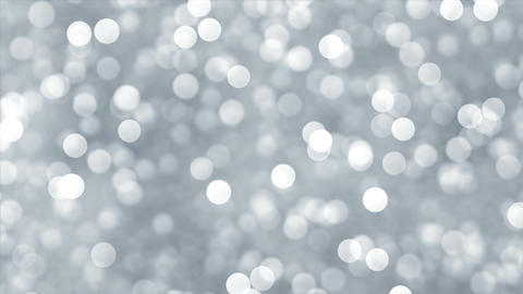Abstract silver lights bokeh background Animation