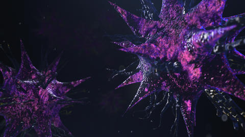 3D render bacteria virus moving render Animation