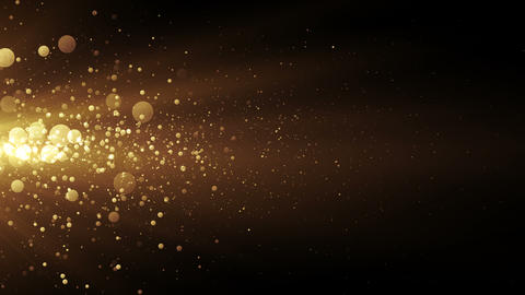 Golden stream with lights and particles Animation