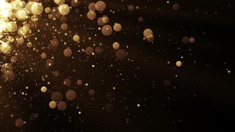Glamour background with glitter sparks. Shiny texture with magic golden dust Animation