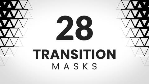 28 transition masks. Simple triangles pattern Animation