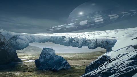 Fantastic Landscape Animation. With UFO Animation