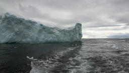 Ice movement icebergs of global warming floats in ocean of Antarctica Footage