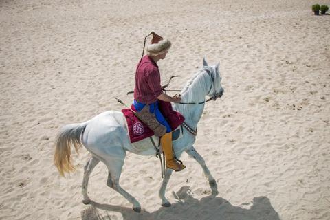 Ottoman horseman riding on his horse Photo