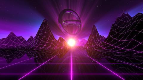 VJ Retro-Futuristic Horizon Animation