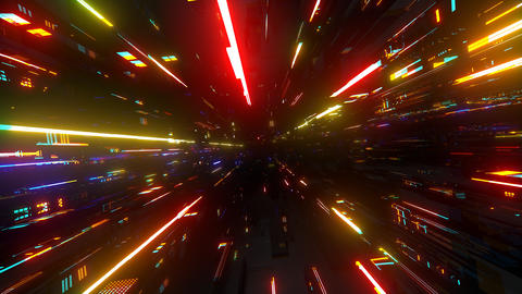 VJ Techy Space CG動画素材