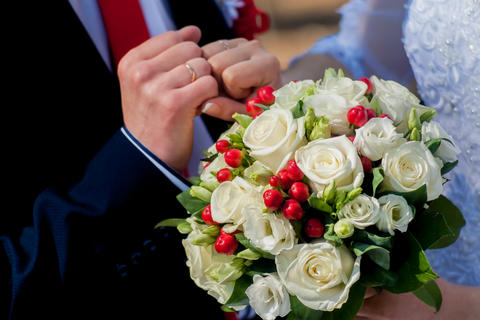 Bride bouquet, natural, rose, style, bunch, holiday, color, day Photo