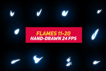 Liquid Elements 2 Flames 11-20 After Effects Template