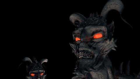 Devil Heads VJ Loop Image
