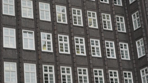 Chilehaus Chile House office building in Hamburg Footage
