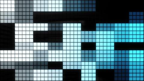 Neon Tiles Wall Light 4K - Random Square - Blue Gradient Animation