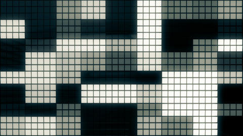 Neon Tiles Wall Light 4K - Random Square - Dark Blue Animation