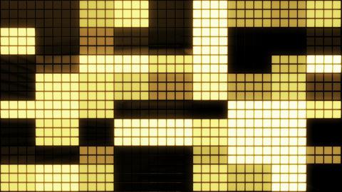 Neon Tiles Wall Light 4K - Random Square - Gold Animation