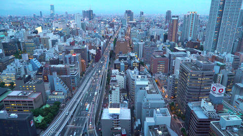 Large highway in Osaka, Japan Footage