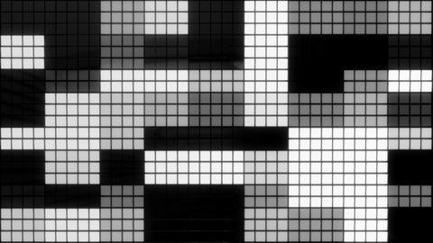 Neon Tiles Wall Light 4K - Random Square - White Animation