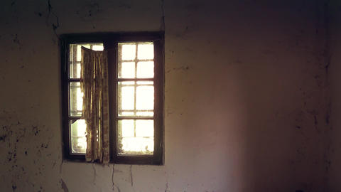 Old abandoned window Footage