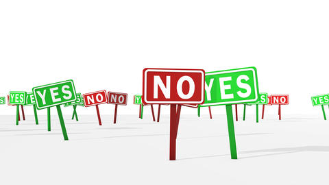Yes and No Concept in Road Symbols Animation