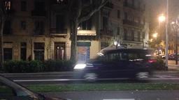 Night barcelona city bus station Archivo