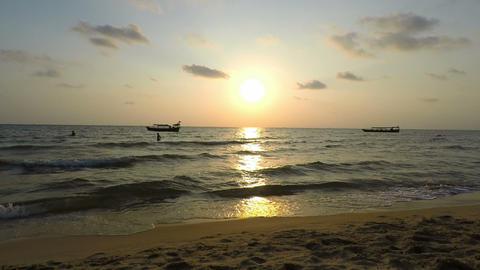 sunset at otres beach Footage