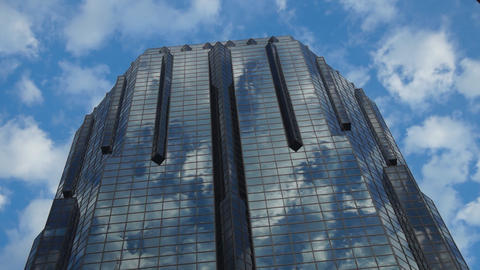 Skyscraper and Clouds Stock Video Footage