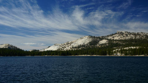 Tenaya lake, Yosemite, USA Stock Video Footage