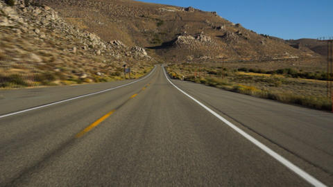 Driving in Sierra-Nevada, USA Stock Video Footage