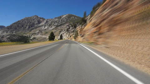 Driving in Yosemite national park, USA Stock Video Footage