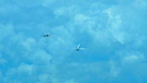 Airplanes stock footage