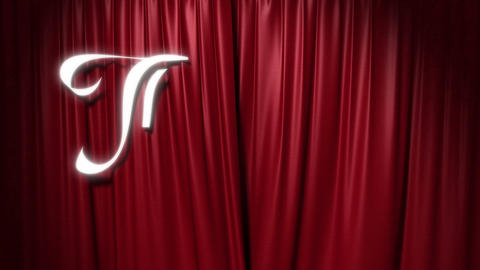 """closing red curtain with a title """"the end"""" Stock Video Footage"""