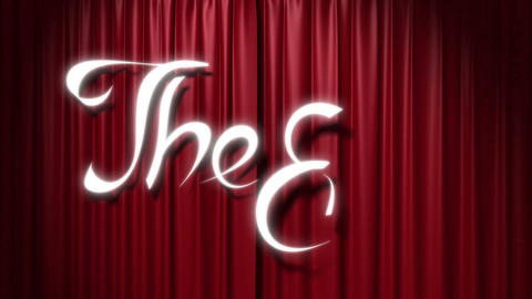 "closing red curtain with a title ""the end"" Stock Video Footage"