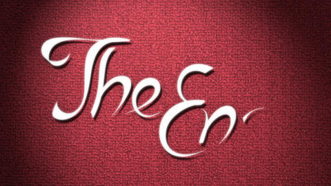 The End Stock Video Footage