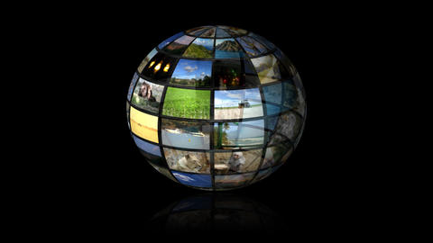 Multimedia Globe 02 Animation