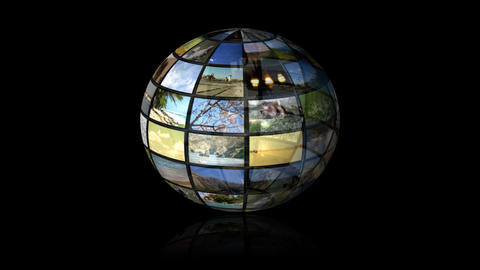 Multimedia Globe 02 Stock Video Footage