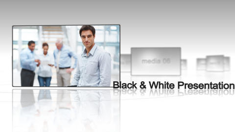 Black & White Presentation - After Effects Template After Effectsテンプレート