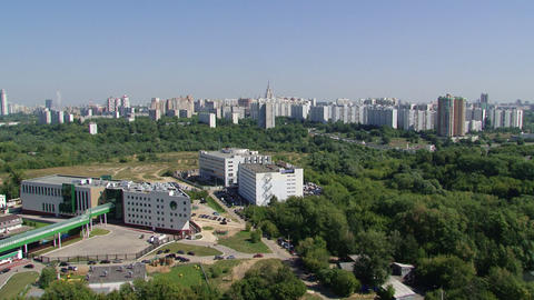 moscow new building Stock Video Footage