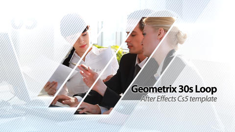 Geometrix 30s Loop Presentation - After Effects Template After Effectsテンプレート