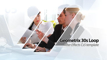 Geometrix 30s Loop Presentation - After Effects Template AE 模板