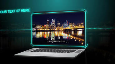 Laptop Presentation - After Effects Template After Effects Project