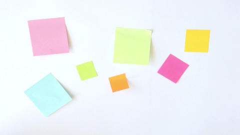 Sticky Notes Stock Video Footage
