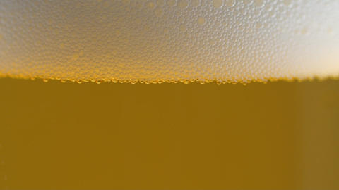 Beer Bubbles In Glass Stock Video Footage