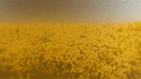 Beer Bubbles In Glass stock footage