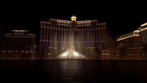 Las Vegas Fountains Show Stock Video Footage