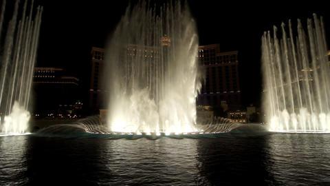 Las Vegas Fountains Show Stock Video Footage