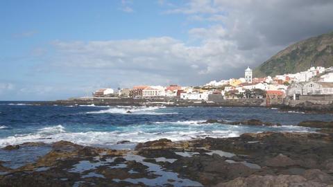 Garachico Village, Tenerife Stock Video Footage