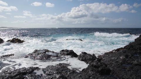 Storm ocean waves Stock Video Footage