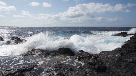 Storm ocean waves Stock Video Footage