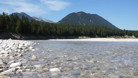 River In Alps Stock Video Footage