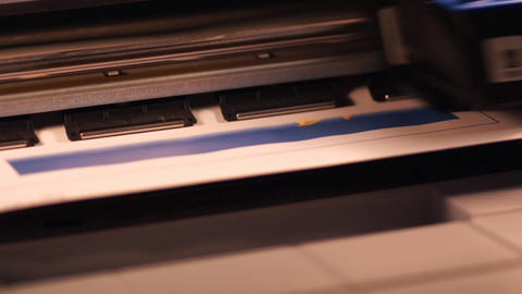 Printer At Work Stock Video Footage