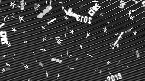 New Year: Loopable 2013 symbol and stars flow. Alpha is... Stock Video Footage