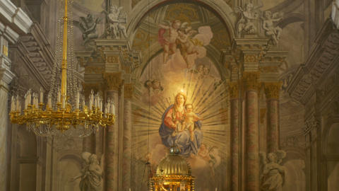 Saint Mary Baroque Altar Footage